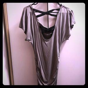 Bebe gray tunic sz XS
